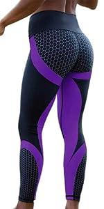 Leggings donna sportivi invernali pelle fitness felpati push up yoga 5 gym jeans elegante palestra