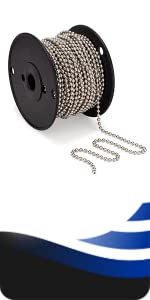 WAXAW beaded ball chain No 10 100' spool for blinds
