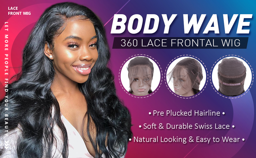 lace front wigs human hair body wave