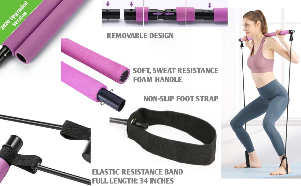 Resistance yoga bar
