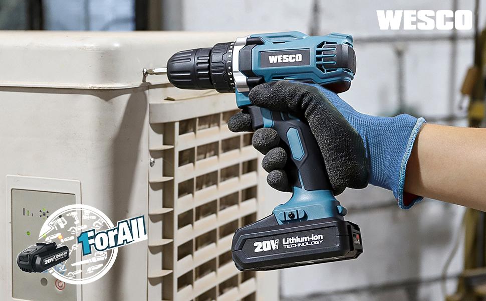 wesco cordless drill driver