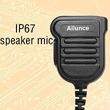 IP67 waterproof shoulder Mic