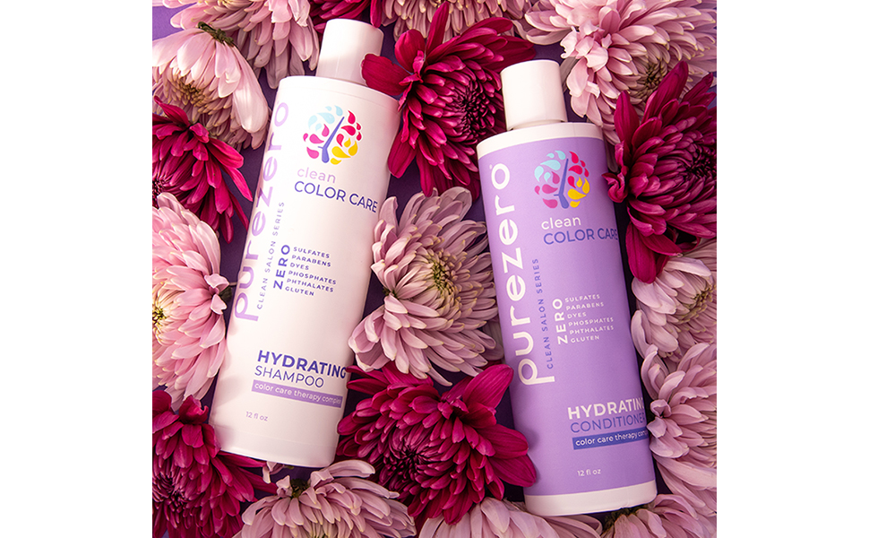SHAMPOO AND CONDITIONER FOR COLOR TREATED HAIR CLEANSE HYDRATE DANDRUFF OILY DRY HAIR