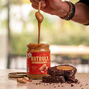 Crema de Cacahuete NATRULY Sin Azúcar, Vegana, Sin Gluten, Sin Lactosa, 100% Cacahuete (antes Natural Athlete) (Pack 4*500g)