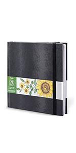 "Ohuhu Marker Pads Art Sketchbook, 8.3""×8.3"" Portable Square Size, 120 LB/200 GSM 78 Sheets/156 Pages"