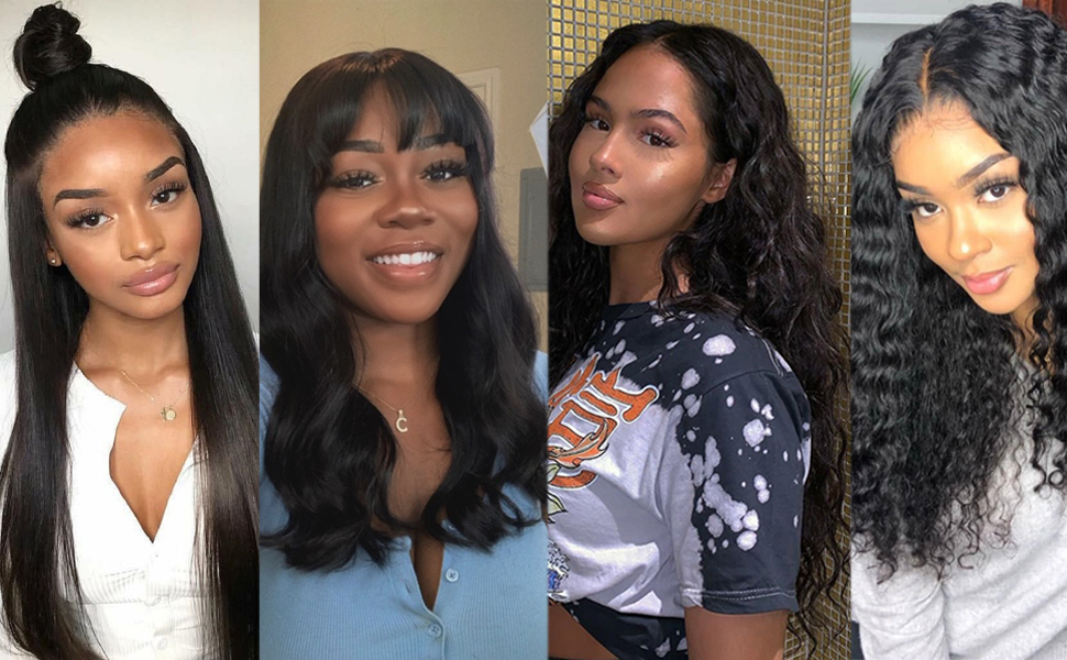 human hair wigs lace front transparent