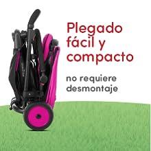Triciclo de plegable compacto