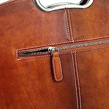 leahter satchel for women