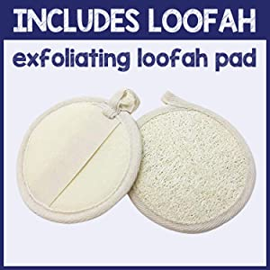 pureSCRUBS Unscented Body Scrub Includes Loofah