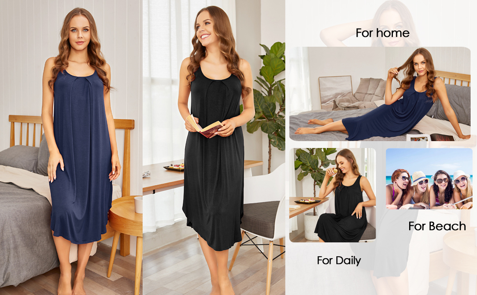 Sleeveless Long Tank Dress For Different Occasions