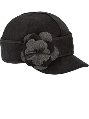 New Women/'s Stormy Kromer Petal Pusher Cap Hat Black White 7 1//8 Free Shipping