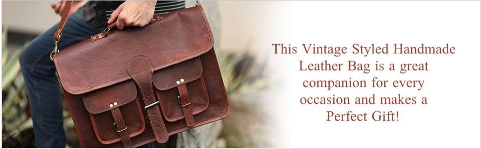 Cuero brings this vintage handmade leather bag specially for you