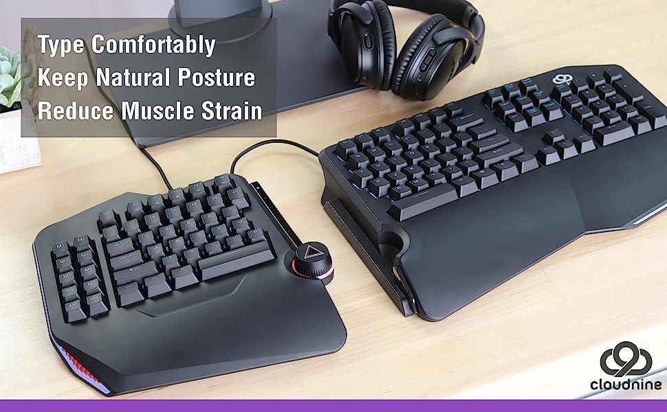 Cloud Nine ergonomic keyboard split ergo wired cherry mx