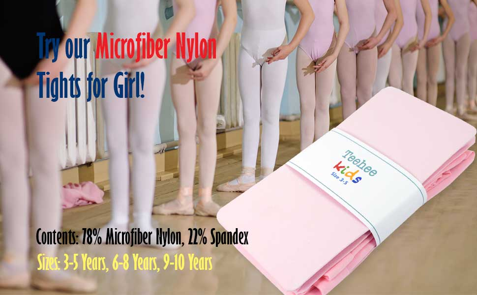 microfiber nylon girls tights for dance