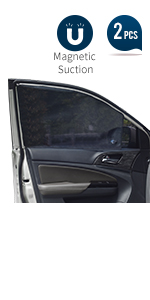 Universal Car Front Side Window Magnetic Stretch