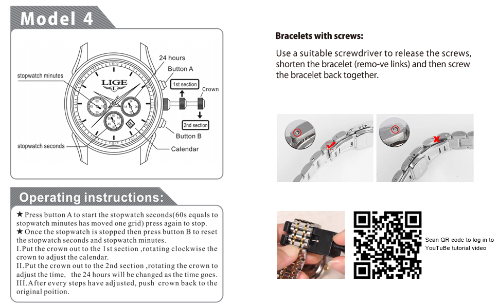 Watch instruction manual