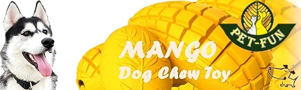 Pet-Fun Dog Puzzle Treat Chew Toy Mango