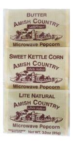 Amish Country Microwave Popcorn Variety Pack Butter Sweet Kettle Corn Lite Natural
