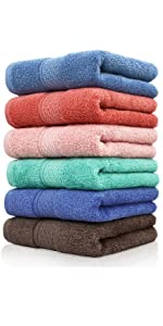 The hand towels with same colors