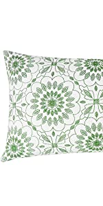 green lumbar pillowcases