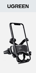 UGREEN Portable Car Phone Holder Car Cradle Auto Clamping Gravity Air Vent