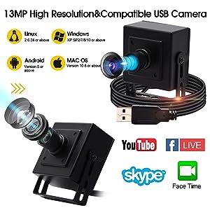 Autofocus Usb with Cameras High Definition 3840X2880 USB Camera,