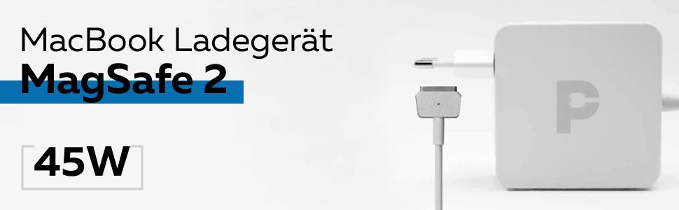 2012-2015 Ersatz-Magnet-2-T-Form. Wallin Mac-Book-Luftladeger/ät 45w Mag-Safe 2 Netzteil Kompatibel mit MacBook-Air-13 Retina-Display