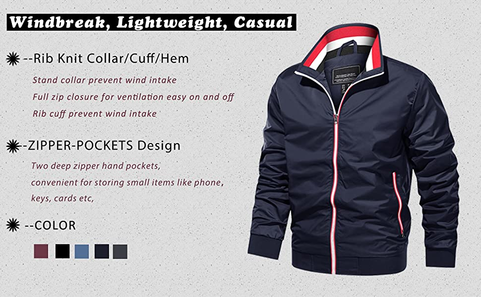 red jacket mens spring jacket bomber jacket men varsity jacket spring jacket men slim fit full zip