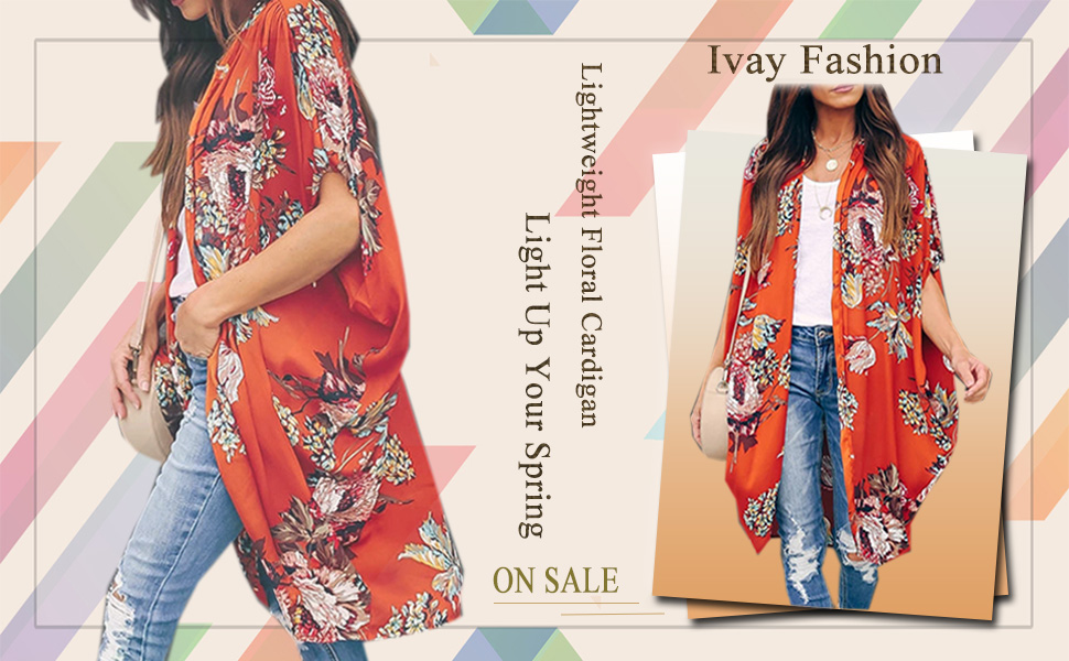 Black and Red Floral Kimono Kaftan \u2013 3 Lengths Duster