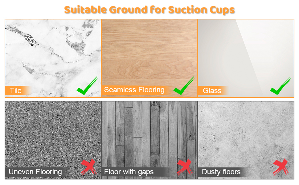 Suitable Ground for Suction Cups