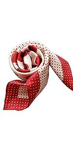 Sciarpa rossa a pois a pois rosso
