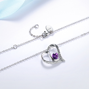 Amethyst necklace for women
