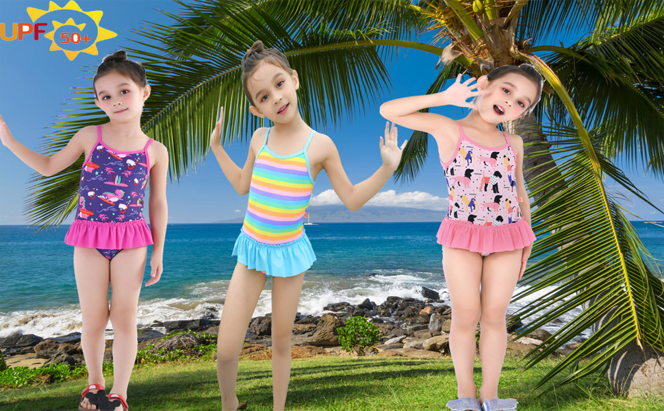 Baby Girls Boys Swimwear Swimsuit Sun Protection UV UPF50 One Piece Bathing Suit
