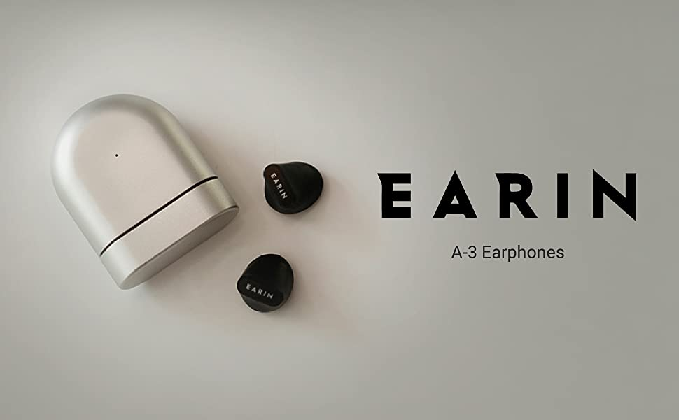 earin, wireless, a-3, earphones, earbuds, headphones, bluetooth, airpods, black, grey, silver,