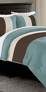 Harper 3-Piece Comforter Set, Blue