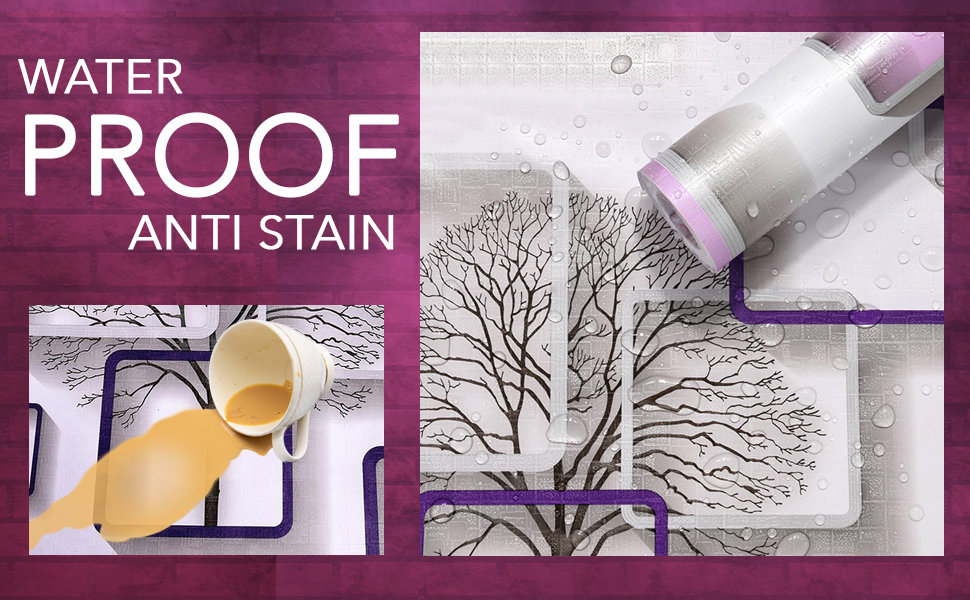 waterproof, anti-stain, oil proof, heat proof, moisture proof wall paper for wall
