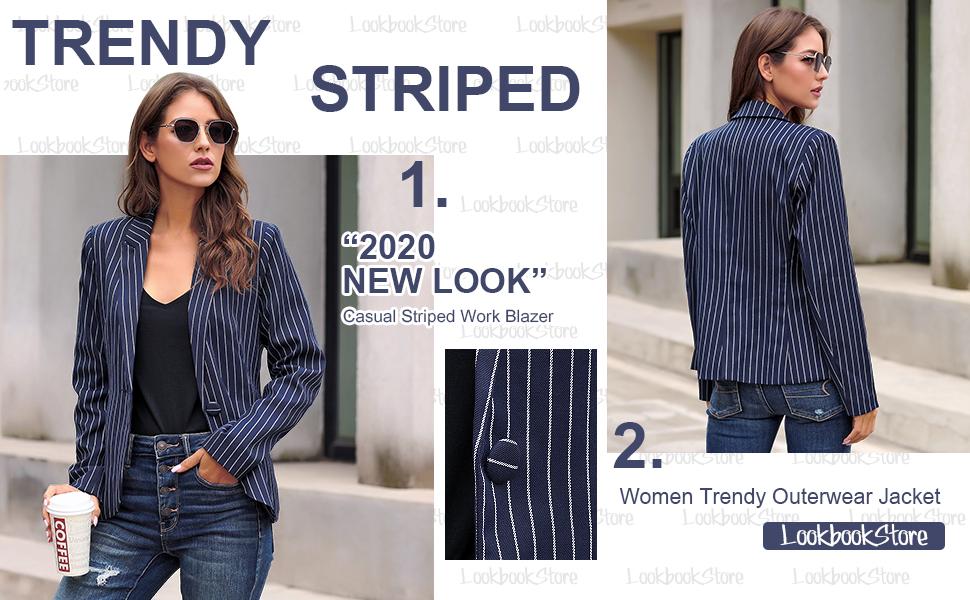 striped blazers for women
