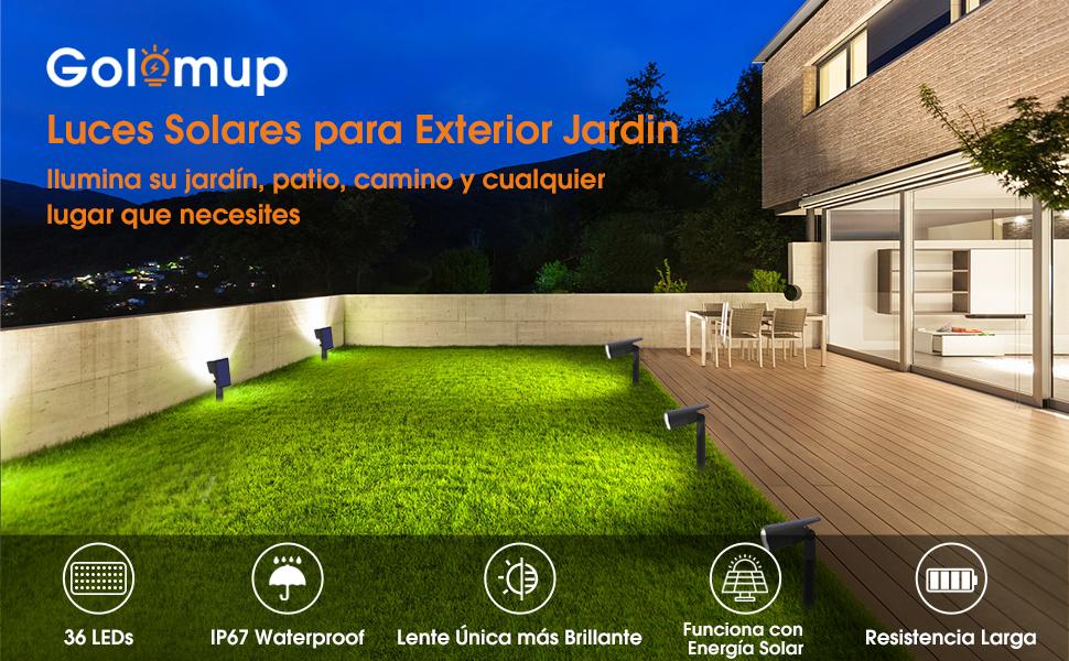 Luces Solares para Exteriores jardin