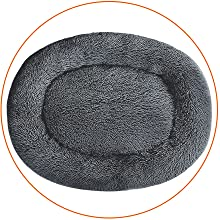 oval round dog bed