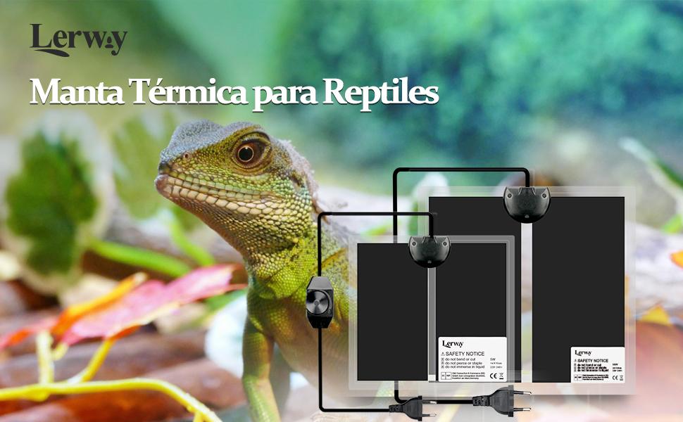 reptile heat mat Alfombrilla Calefactora de Terrario con Controlador de Temperatura