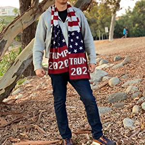 Trump Scarfs 2020 Presidential Election Scarves Fall Winter Gear MAGA KAG American Flag USA Design