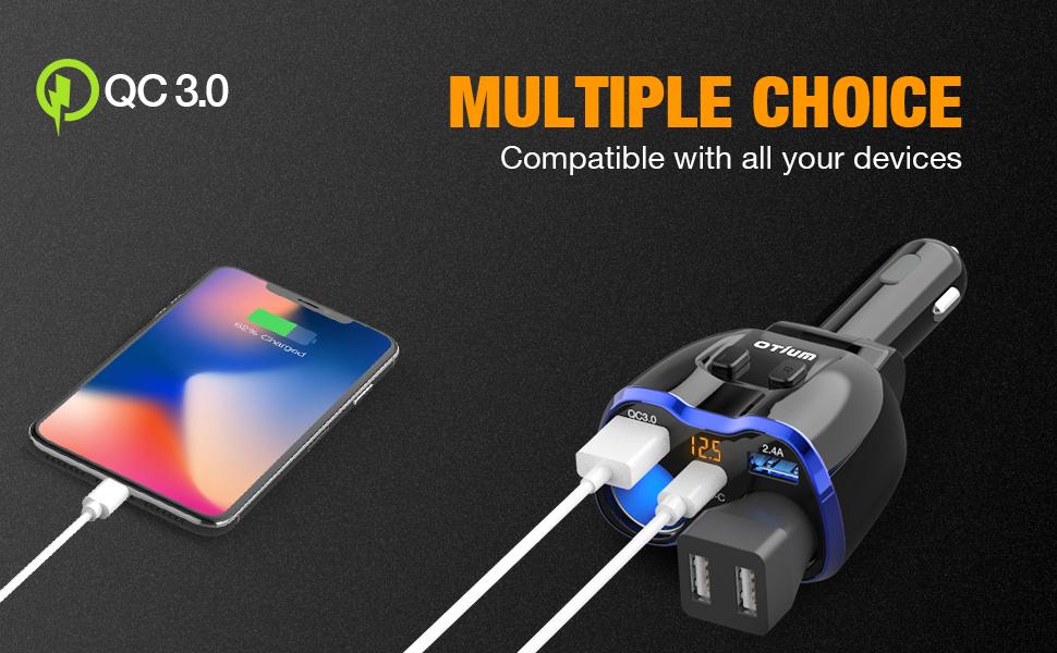 multiple choice car charger