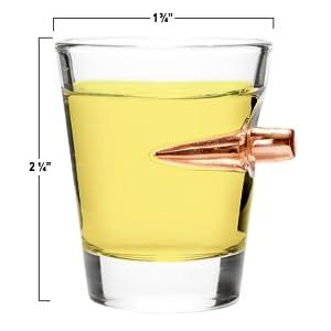 308 BULLET SHOT GLASS