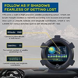 Universal Car HUD Head Up Display Digital GPS Speedometer with Speedup Test  Overspeed Alarm