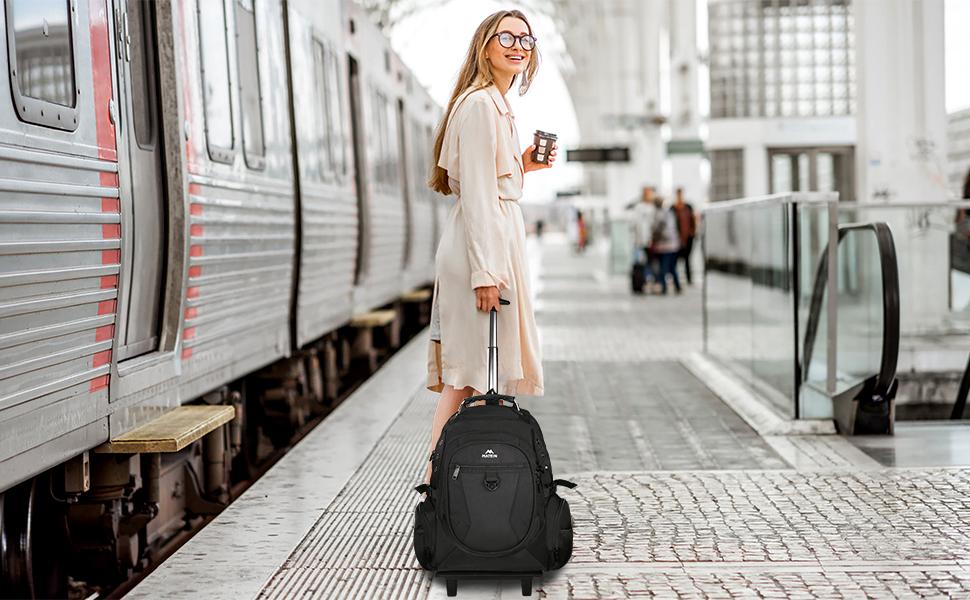 Matein College Wheeled Backpack