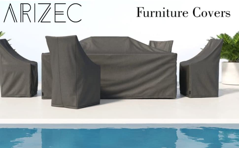 garden table cover, arizec, furniture covers, waterproof covers