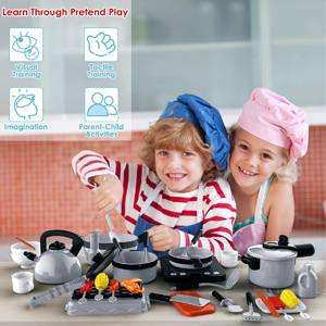 Kids Kid Baby Babies Girl Boy Chef Little Cook Story Fun Hand Eye Coordination Tactile Training Toys