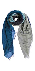 hand dyed scarf shawl wrap cashmere