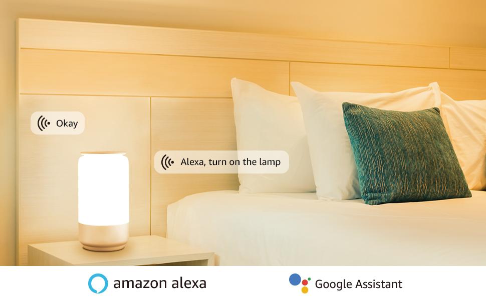 LE Bedside Table Lamp Alexa enabled