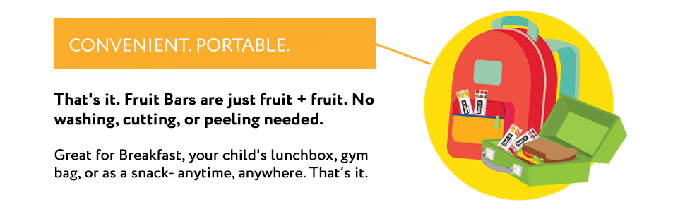 Conventient, Portable. Great for breakfast, lunchboxes, gym bags, or as anytime snack.